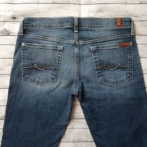 7 For All Mankind | jeans w/ rhinestones, size 28